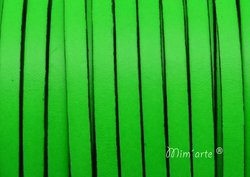 Cabedal Plano 5mm VERDE FLUOR