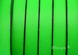 Cabedal Plano 10mm VERDE FLUOR