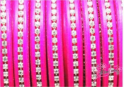 Cabedal Extra Grosso Strass Cristal 10x6mm FUCSIA