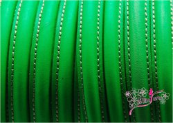 Half Cane Leather 10x5mm GREEN FLUORESCENT