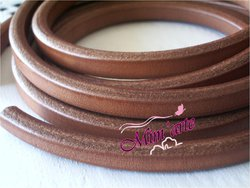 Cabedal Extra Grosso Liso 10x6mm CAMEL