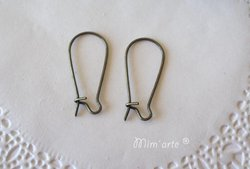 Hooks for Closed Earrings 25mm OLD GOLD (pair)