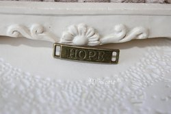 "Entremeio ""Hope"" 27x6mm BRONZE (unidade)"