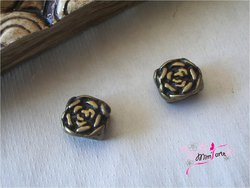 Half Cane Flower 10x5mm BRONZE (unit)