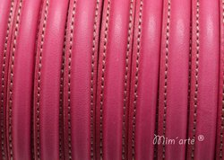 Half Cane Leather 10x5mm FUCSIA