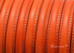 Half Cane Leather 10x5mm ORANGE