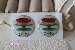 Duo Adhesive Resin Cabochon 25mm (par)