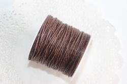 Cotton Yarn 1mm BROWN (20m roll)