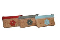 Coin Purses Flower Cork