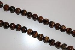 Precious Stone Accounts Strip Tiger Eye 10mm