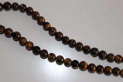 Precious Stone Accounts Strip Tiger Eye 8mm