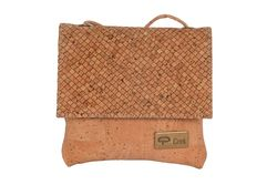 Cork Bag with strap shoulder - NATURAL/SIDEWALK