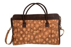 Cork Bag with strap shoulder, removable - NATURAL/PATTERN